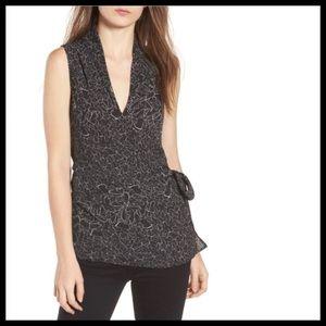NWT Trouvé V-neck Wrap Style Sleeveless Blouse